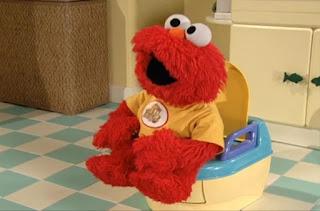 Baby Elmo use the potty. Sesame Street Elmo's Potty Time