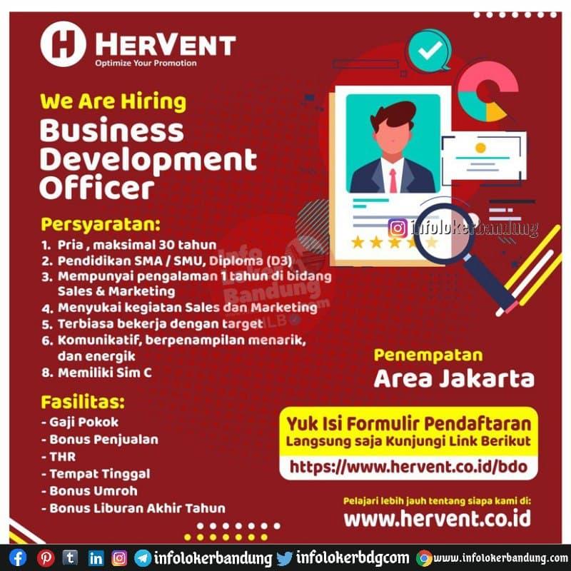 Lowongan Kerja PT. Aventama Hervent Solusindo Bandung Maret 2021