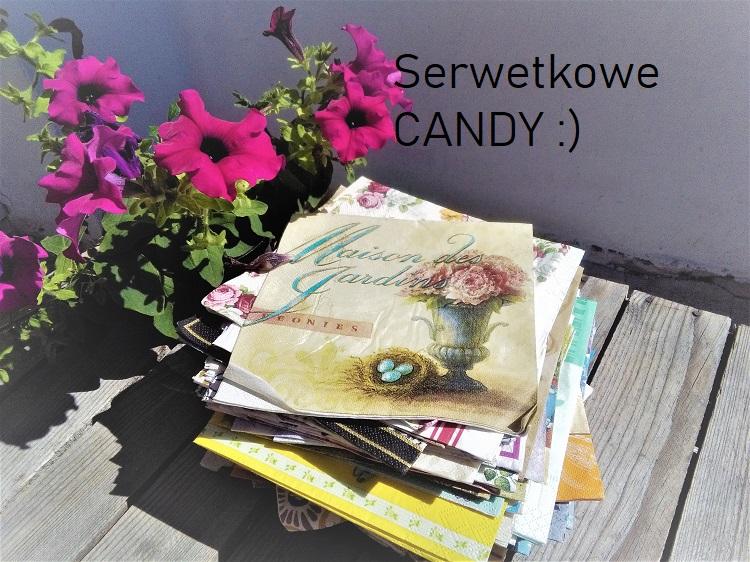 Serwetkowe Candy, wyprzedaż rękodzieła i książek - zapraszam:)