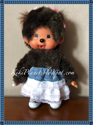 kiki monchhichi couture sewing jupe skirt vêtement doll poupée handmade fait main