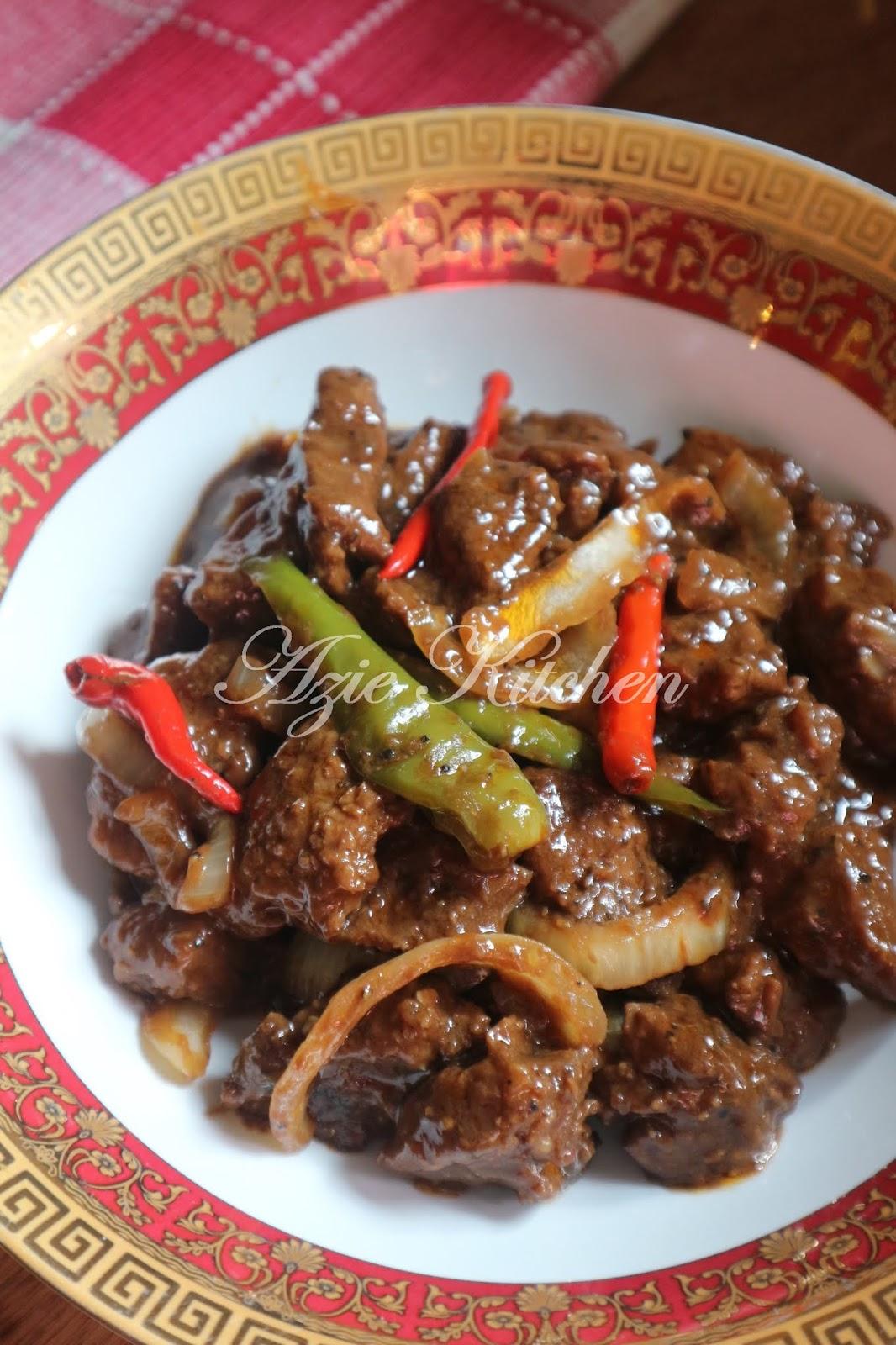Daging Masak Black Pepper Yang Sedap Azie Kitchen