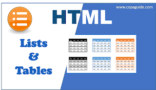 HTML List and Table Tags