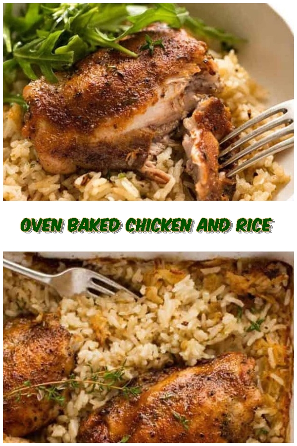 #Oven #Baked #Chicken #and #Rice #crockpotrecipes #chickenbreastrecipes #easychickenrecipes #souprecipes