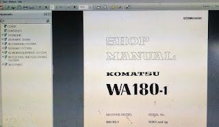 Shop Manual Wheel loader komatsu WA180-1 1