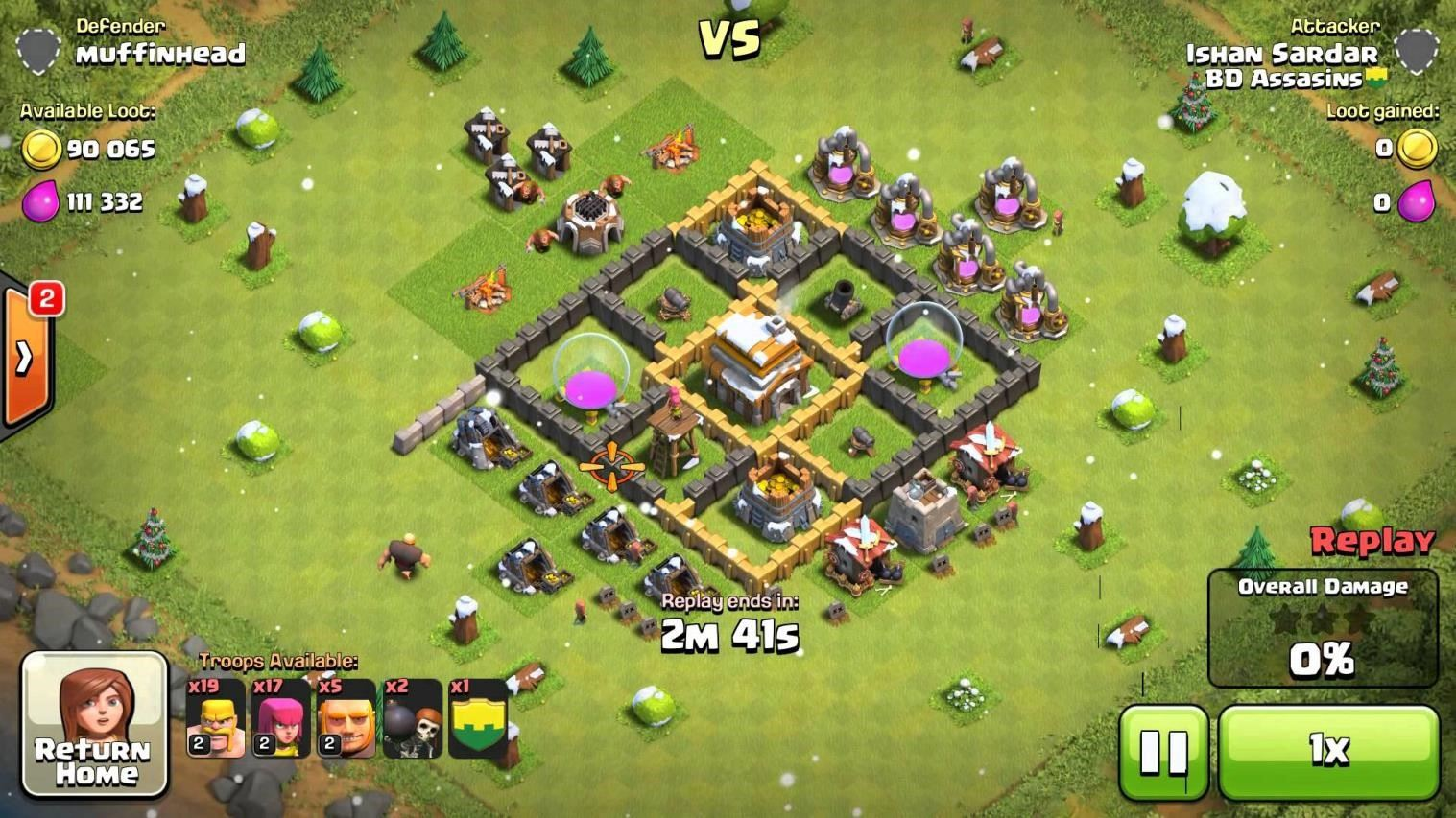 clash of clans 4 level town hall