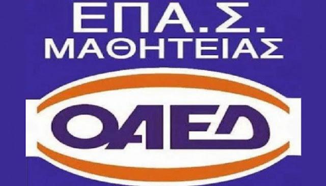 Παράταση εγγραφών έως τις 20/09 στις ΕΠΑ.Σ Μαθητείας του ΟΑΕΔ