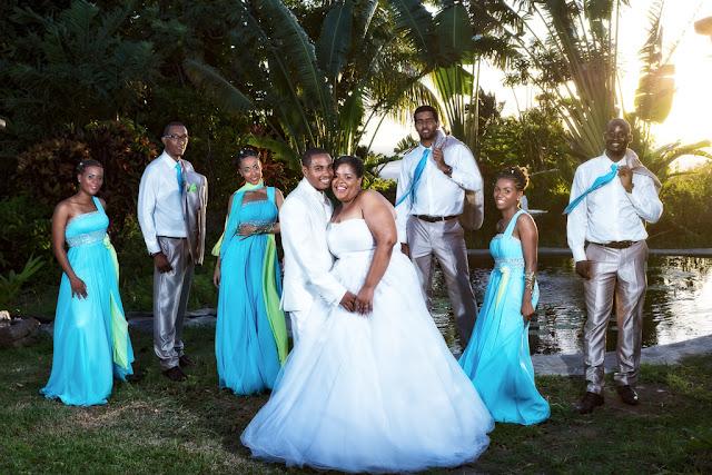 mariage-Guadeloupe-Bouillante-les mariés et leur cortège