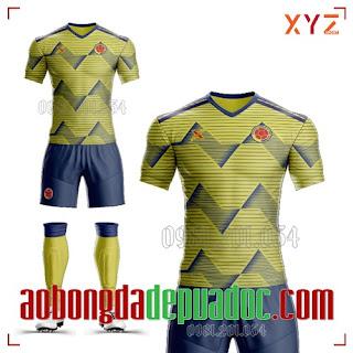 Trọn Bộ Áo Bóng Đá Đẹp Đội Tuyển Colombia 2020