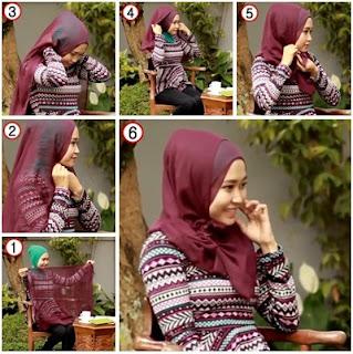 5 Tutorial Jilbab Simpl Untuk Sehari-hari