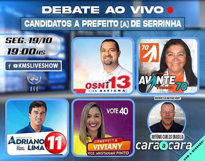 Primeiro debate entre prefeituráveis de Serrinha será na próxima segunda-feira (19)