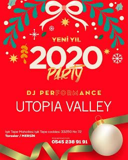 Utopia Valley Mersin Yılbaşı Programı 2020 Menüsü