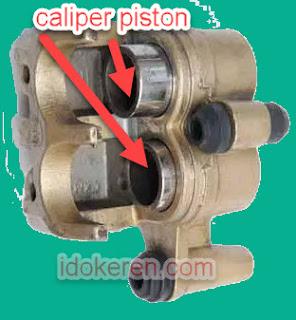 Caliper piston motor supra x 125