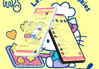 Amarelo Kitty Theme For YOWhatsApp & Fouad WhatsApp By Driih Santos