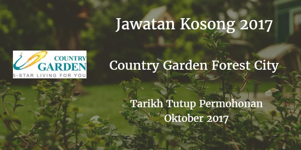 Jawatan Kosong  County Garden, Forest City Oktober 2017