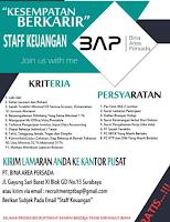 Lowongan Kerja Surabaya di PT. Bina Area Persada September 2021