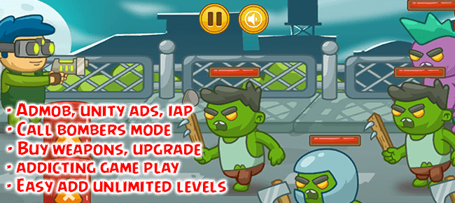 Download Soure Code Reskin Game Unity Zombie Defense 2 : Survival