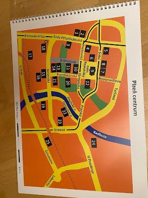 Hmatová mapa Plzně - Centrum
