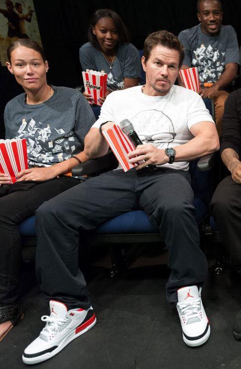 7726bc6f3ac Celeb Sneaker Game  Mark Wahlberg Wears Air Jordan 3