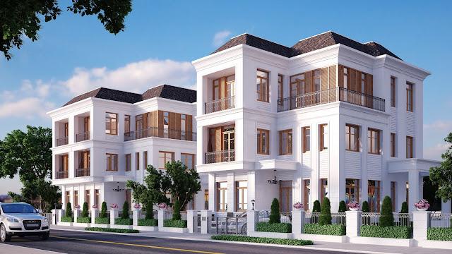 Mẫu thiết kế biệt thự đơn lập dự án Louis City