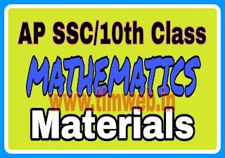 AP SSC/10th Class Mathematics materials