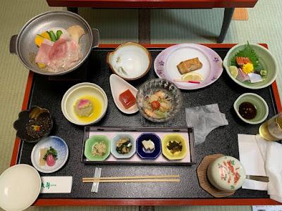 丸駒温泉旅館 夕食