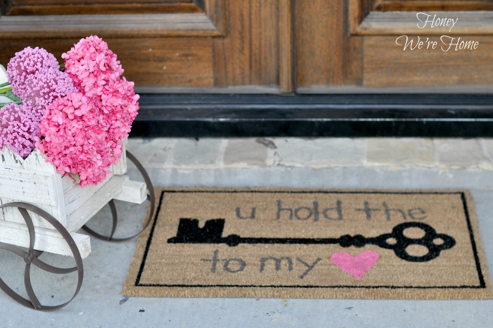 Valentine Ideas (DIY Welcome Mat) | Honey We're Home