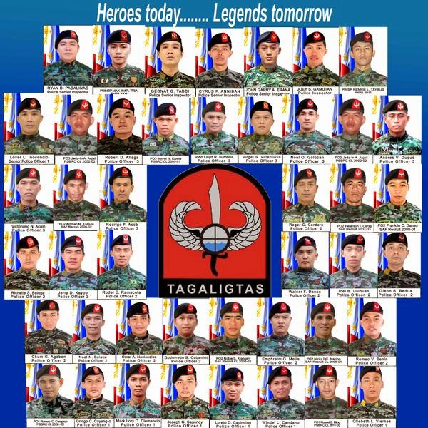 TAGAPAGLIGTAS: The 44 brave commandos of  PNP-SAF