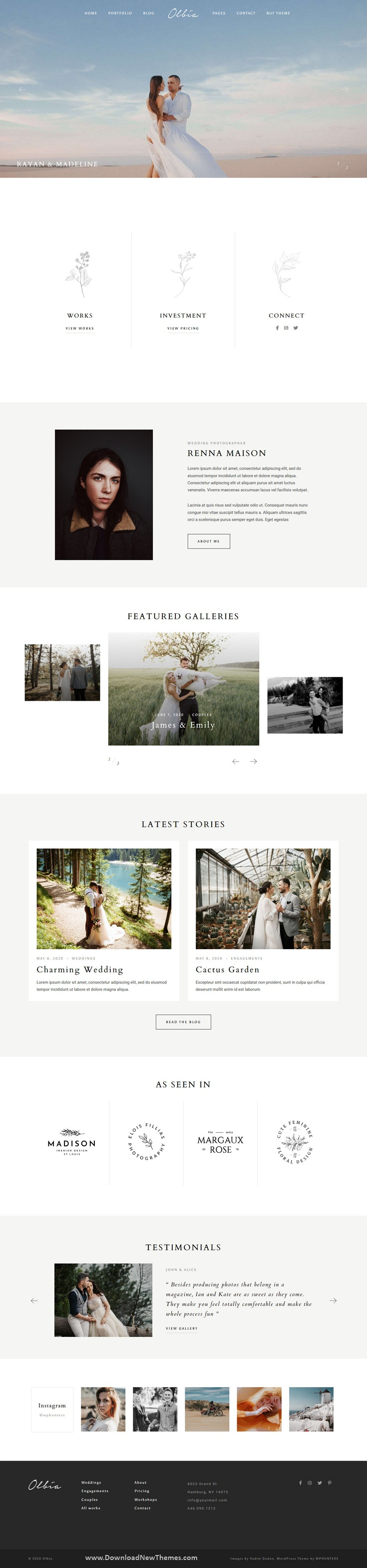 Elegant WordPress Theme for Photographers