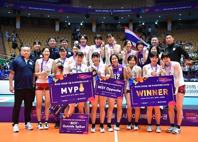 Cúp vô địch nữ châu Á 2019: Nhật Bản vô địch