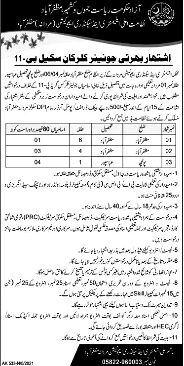 Latest Govt Jobs in Elementary and Secondary Education Department May 2021