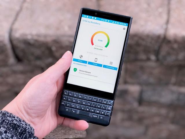 DTEK by BlackBerry KEY2 - security feature