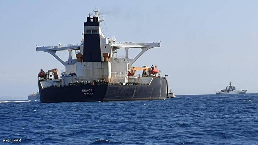 An Iranian oil tanker detained by British forces since July leaves Gibraltar
