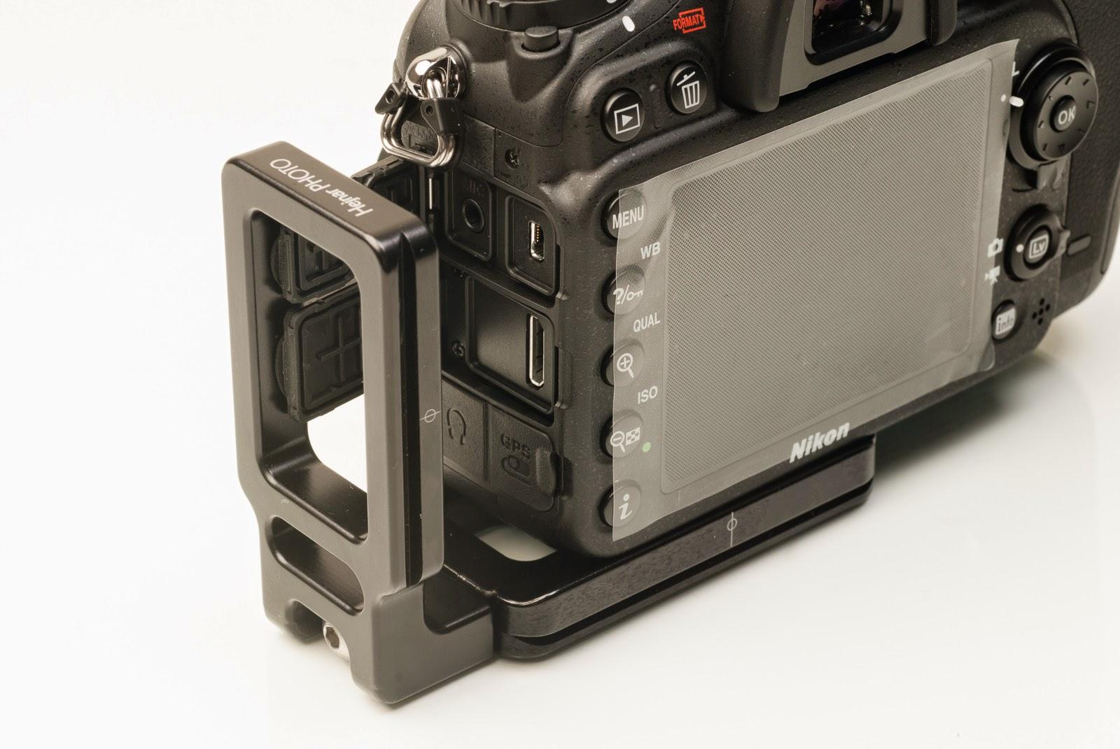 Nikon D7100 w/ ND-7100 L bracket - side out