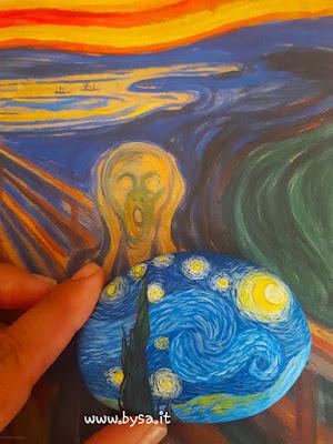 sassi dipinti van gogh la notte stellata