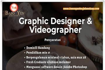 Lowongan Kerja Graphic Designer & Videographer Baso Yen Bandung