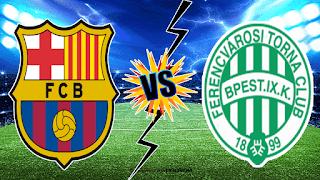مشاهدة مباراة برشلونة و فرينكفاروسي اليوم الاربعاء بدوري ابطال اوروبا