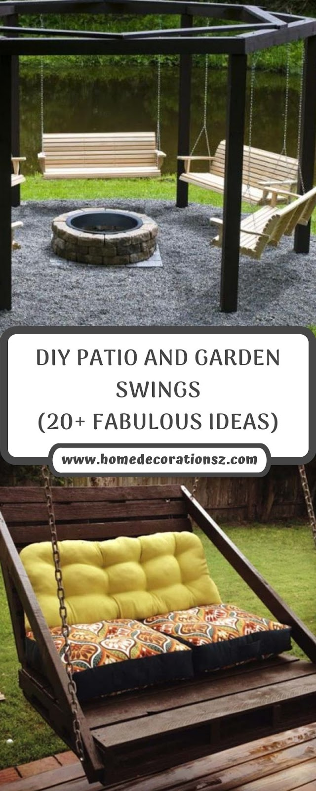 DIY PATIO AND GARDEN SWINGS (20+ FABULOUS IDEAS)