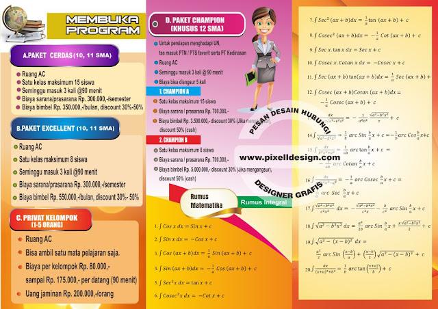 Iklan Brosur Bimbel Les Privat Matematika