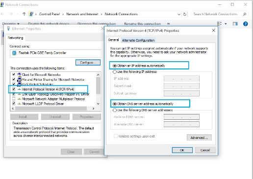 setting ipv4 untuk mengatasi laptop tidak bisa connect wifi