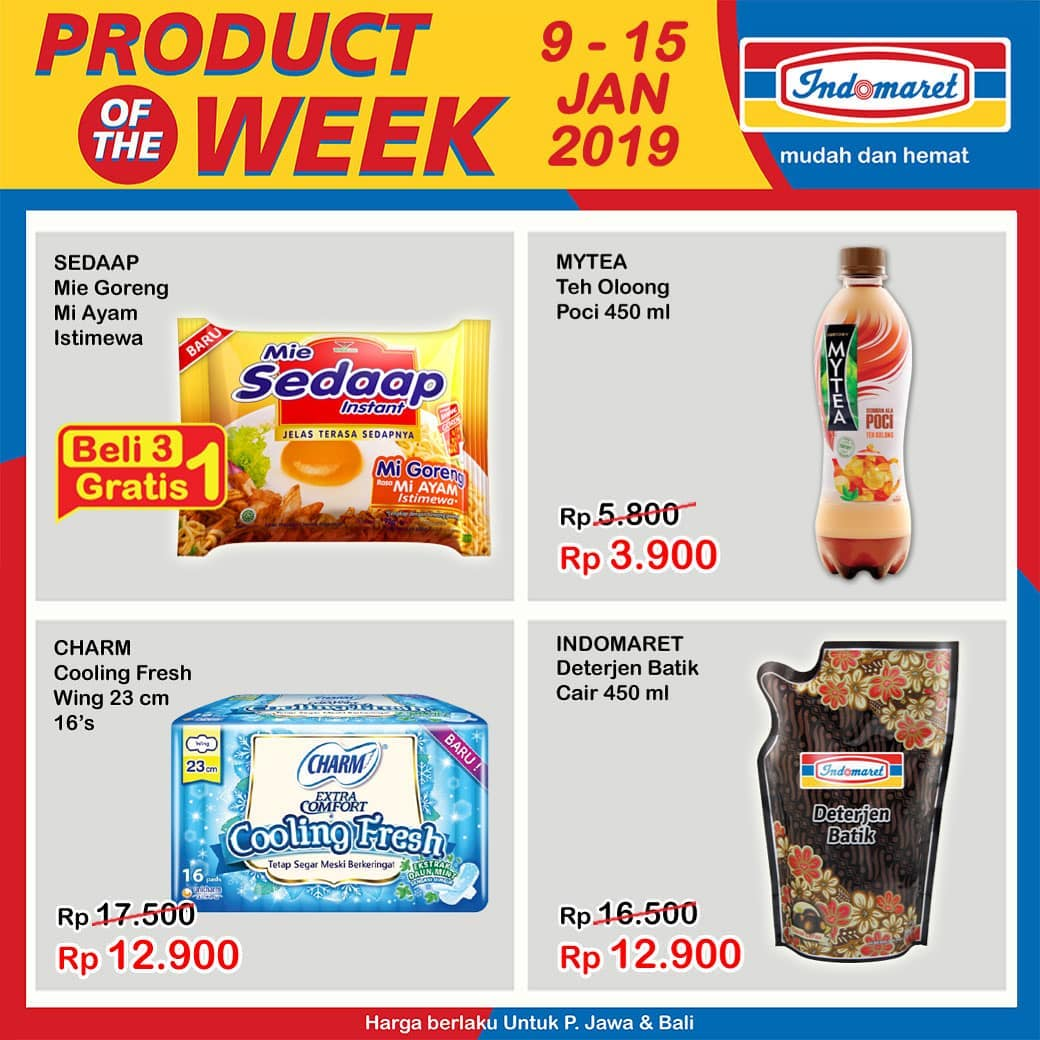 #Indomaret - Promo Product of The Week Periode 09 - 15 Januari 2019