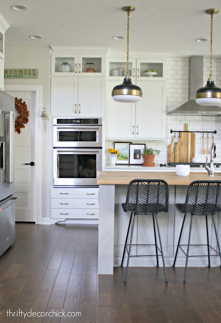 How to add feet to kitchen cabinets