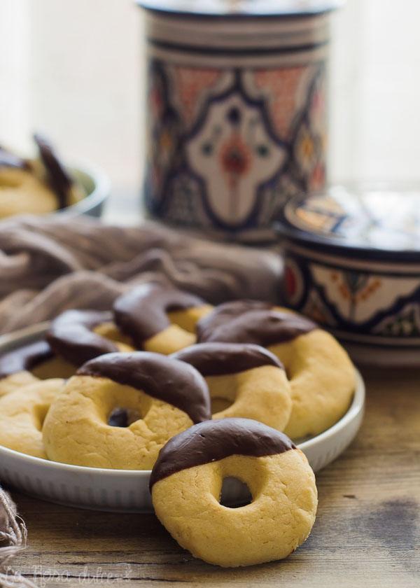 Rosquillas de maicena y chocolate #sinlactosa