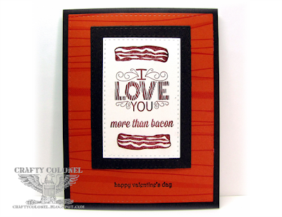 Crafty Colonel Donna Nuce for Cards in Envy Challenge Blog, Masculine Card, Hero Arts Dude, CTMH Wild Thing