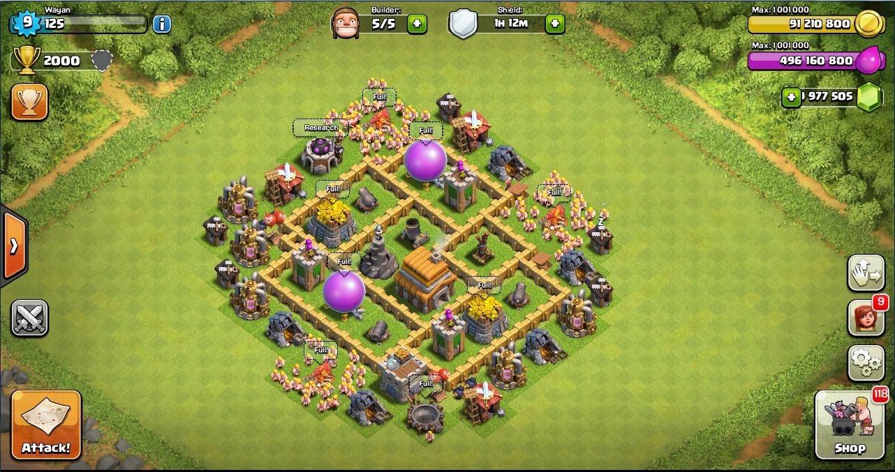 Base Coc Th 5 Kuat 7