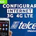 Configurar Internet APN 3G/4G LTE Telcel Mexico 2019
