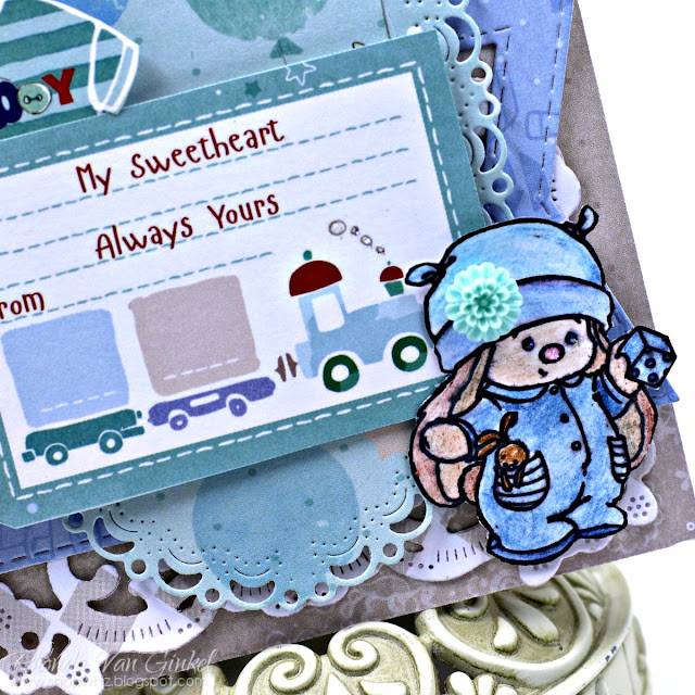 My Sweetheart Card featuring My Little Star Collection and Stamp by ScrapBerry's designed by Rhonda Van Ginkel