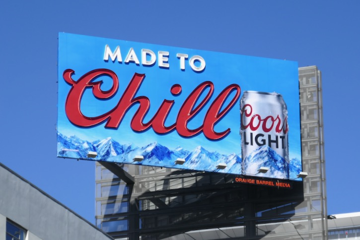 Made to Chill Coors Light billboard