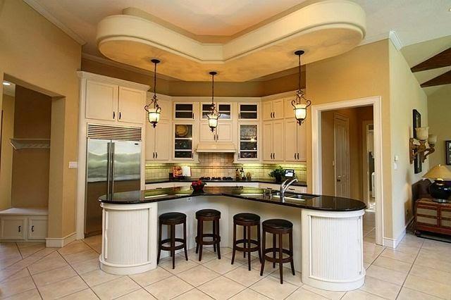 dwell of decor: 25 gorgeous kitchens designs with gypsum false