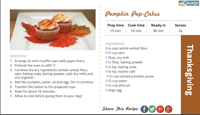 Pumpkin Pup Cakes recipe for Thanksgiving