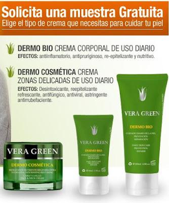 muestra gratis crema vera green